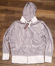 NEW Womens MEDIUM Adidas Stella McCartney Run Performance Jacket Gray F82882
