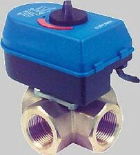 """Euromix MV-120/540 4-Wege Mischventil 1"""" DN 25 Regelmotor mit Messingmischventil"""