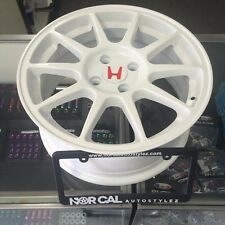 "NEW JDM ITR WHEELS 4X100 16"" CHAMP WHITE INTEGRA TYPE R HONDA ACURA 4 RIMS WHEEL"