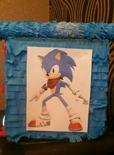 Sonic boom hedgehog Pinata with Sweets Birthday Party & Stick Personalised