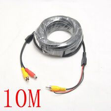 10M 33Ft CCTV Camera DVR 2 RCA DC Power Audio Video Extension Cable Wire