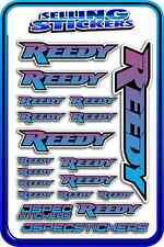 REEDY RC STICKERS DRIFT TOURING MOTOR ESC BATTERY AE 1/12 1/10 RACE BLUE PURPL W