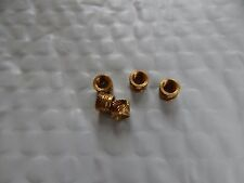 "1/4""-28 Threaded Brass Knurl Round Insert Nuts .340 O.D.. x .250 LONG 5 PCS"
