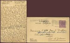 CANADA CENSORED POSTAL STATIONERY CARD to FRANCE 1945 WW2