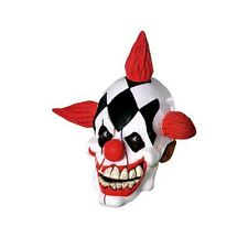 Childs Crazy Clown Mask Halloween Costume Latex Psycho Bozo Face Kids Girls Boys