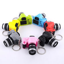 Cute Mini DSLR Camera Lucky Charm Keychain With Flash Light & Sound Effect