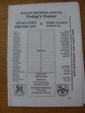 23/09/2006 Newi Cefn Druids v Port Talbot Town  (Item in very good condition, no