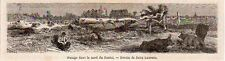 15 PACAGE DANS LE NORD DU CANTAL IMAGE 1864 OLD PRINT