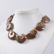 0877 27-42mm Ammonite fossil graduated loose beads 16""