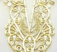Iron On Trim for Neckline from India. Easy DIY. Extra Large Neckline. Gold