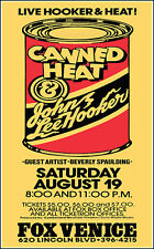 JOHN LEE HOOKER CANNED HEAT 1978 Los Angeles Fox Venice Theater Concert Poster