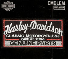 TOPPA PATCH GENUINE PARTS HARLEY DAVIDSON  X BIKERS THERMOADERENTE