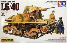 1/35 Tamiya 89783  Italian Light Tank L6/40 w/PE Parts Plastic Model Tank Kit
