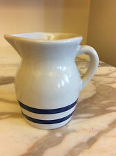 Roseville Pitcher Robinson Ransbottom Pottery Roseville RRP Co Blue Banded