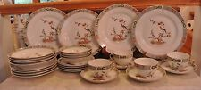 Victoria Czech-Slovakia China Asiatic Pheasant Bird Set of 4 Place Settings