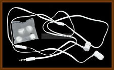 White Flat Cable 3.5mm In Ear Stereo Handsfree for HTC  One Mini 2. Wildfire S