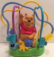 1999 Disney Winnie the Pooh Activity Gym Slide & Spin Soft Plastic Rails Toy 9""