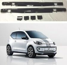 NEW GENUINE VW ROCK UP UP! PIANO BLACK PAINTED SIDE SKIRTS SET