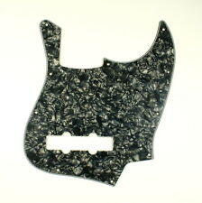(D22) 3 Ply Guitar Pickguard Fits Jazz Bass JB Style Pearl Black