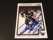 Dany Heatley Wild 2012-13 Panini Score Hockey Signed Auto Card