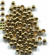 DOME Smooth Nailheads 3mm GOLD color 1 gross  Hot Fix