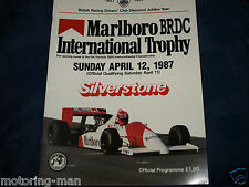 SILVERSTONE INTERNATIONAL TROPHY 1987 PROGRAM F3000 MARK BLUNDELL GREGORY FOITEK
