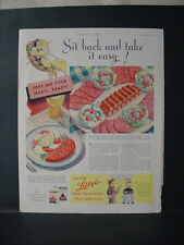 1934 Libby's Meat Delicacies Corned Beef Hash Sausages Vintage Print Ad 10982