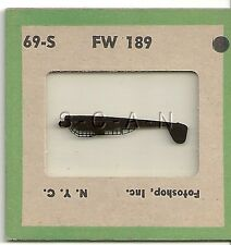 WWII US Recognition 35mm Slide Negative- Airplane- Focke Wulf FW 189- Recon- #1