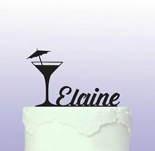 Personalised Cocktail Glass Acrylic Cake Topper