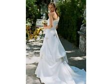 David's Bridal Wedding Dress Gown New Size 6 Style # WG3025 one shoulder taffeta
