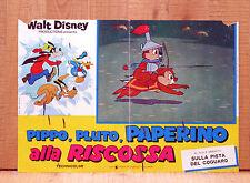 PIPPO PLUTO PAPERINO ALLA RISCOSSA fotobusta poster Disney Chip'n Dale Cip Ciop