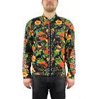 Adidas Jeremy Scott ObyO Flower Bone TT Black/Multicolor Leopard Track Top NEW!