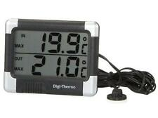 Car Thermometer In/Out Large Digital Display With Ice Alert Easy Read (CP12)