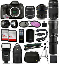 Canon 7D Mark 2 DSLR Camera + 18-55mm IS II + 75-300mm III + 420-1600mm + 128GB