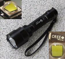 * abritée * ultrafire c8 CREE xm-l2 u3 5m LED Lampe de poche 3000 LM 4a - 2017