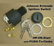 Boat Marine Outboard Ignition Off/On/Start 6 Terminal Key Switch w/Push to Choke