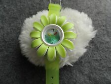Pretty Karma Kiss Ladies Light Green Flower Watch - Water Resistant