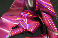 """Holographic pink"" transfer nail art foil - 1 meter"