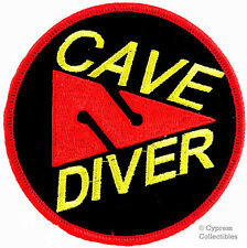 CAVE DIVER EMBROIDERED IRON-ON PATCH new SCUBA DIVING CAVERN TRIDENT LOGO