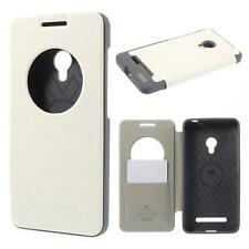 Protection sac Housse Flip Cover Case étui pour Asus zenfone 5 view Blanc Gris 39b2