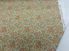 "Green & Gold Baroque ""Zinnia"" Printed 100% Cotton Curtain Fabric"