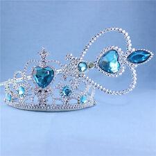 Set 2 pezzi   Frozen corona principessa Elsa con bacchetta magica 32 cm Natale