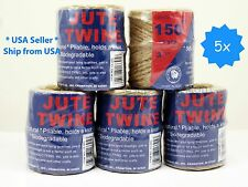 5x 150' natural Twisted Jute Rope Twine String Rope Bird Parrot Toy Craft Part