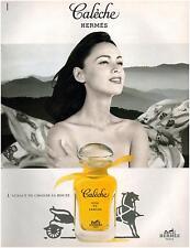 ▬► PUBLICITE ADVERTISING AD Parfum Perfume Calèche Soie de parfum Hermès