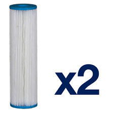 "2x 10"" 5 Micron Washable Water Filter Reusable Filter Bio Diesel, Rain Water"