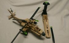 Vintage GI Joe 1992 DESERT APACHE HELICOPTER ELECTRONICS WORK VERY NICE