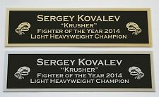 Sergey Kovalev nameplate for signed boxing gloves trunks photo