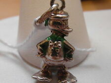 508E VINTAGE STERLING SILVER DISNEY DONALD DUCK CARTOON CHARACTER CHARM/PENDANT