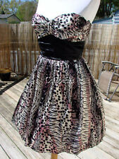 NWT BETSEY JOHNSON  ANIMAL MIX UP TEEN VOGUE DRESS~2 **SA;E**