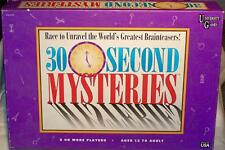 30 SECOND MYSTERIES GAME RACE TO UNRAVEL THE WORLD'S GREATEST BRAINTEASERS!